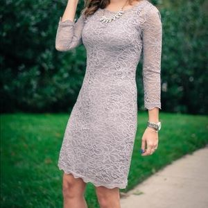 Piperlime 3/4 sleeve lace dress